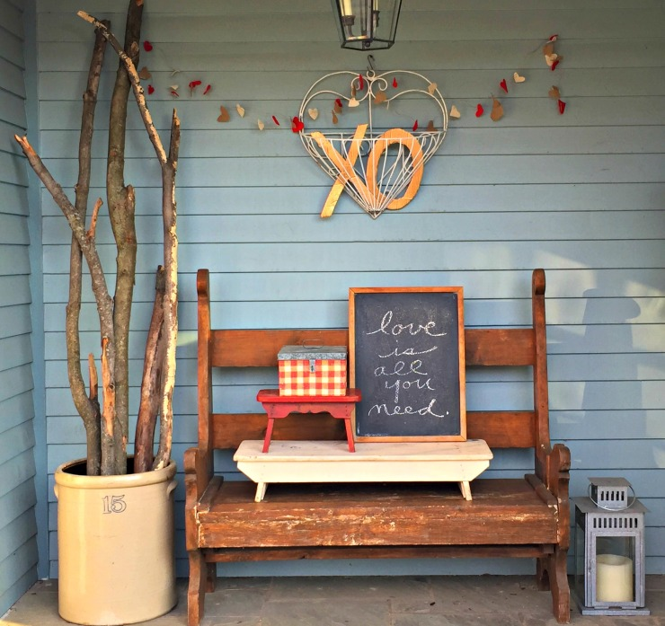 valentines porch
